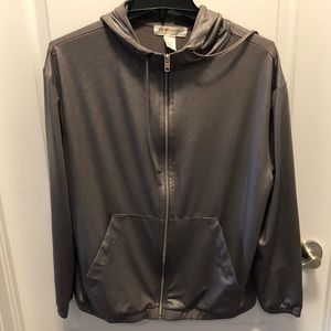 H&M Coachella Metallic zip up sweater